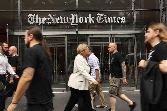 Le siège du journal «The New York Times», en juillet.