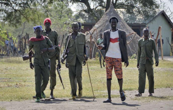 Des soldats de l'opposition à Jiech.