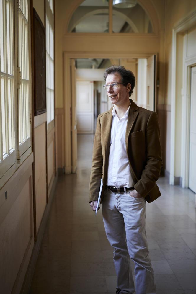 Stéphane Mallat, à l'Ecole normale supérieure, à Paris, 18 décembre 2017.