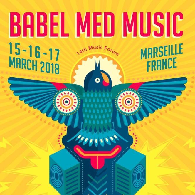 Visuel de la 14e édition de Babel Med Music, qui devait se tenir du 15 au 17 mars 2018 à Marseille.
