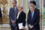 Les médiateurs Michel Badre, Anne Bocquet et Gerard Feldzer lors de la remise de leur rapport surNotre-Dame-des-Landes, à Paris, le 13 décembre.