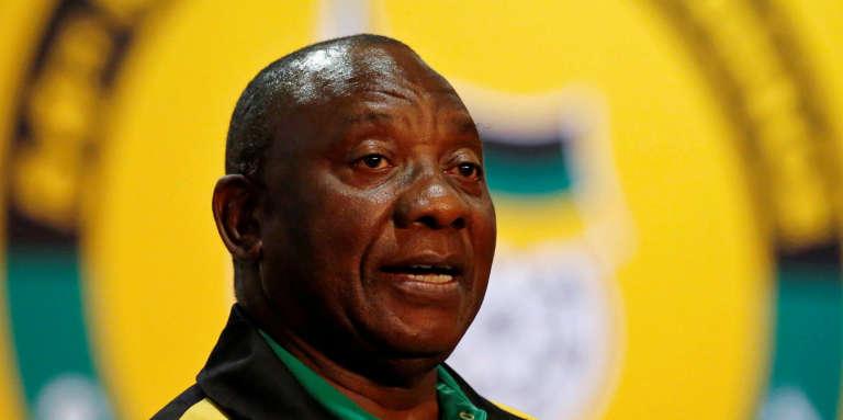 Le vice-président sud-africain, Cyril Ramaphosa, lors de la 54econférence du Congrès national africain (ANC), à Johannesburg, le 20décembre 2017.