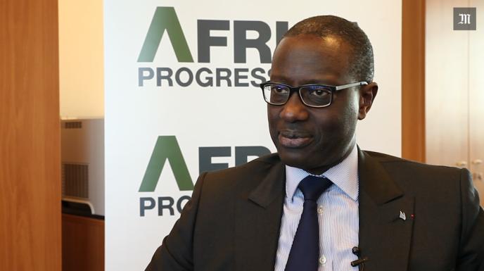 Tidjane Thiam, directeur général du Crédit Suisse lors de la dernière réunion de l'Africa Progress Panel (APP) le 4décembre, à Genève (Suisse).