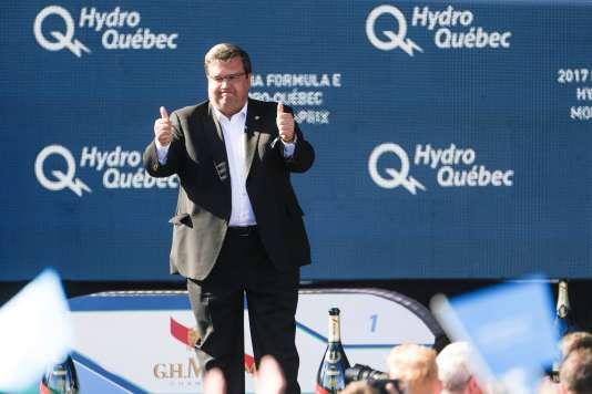 L'ancien maire, Denis Coderre, s'était beaucoup impliqué dans l'organisation du double ePrix de Montréal 2017.