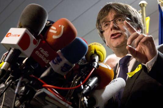 Carles Puigdemont, le 22 décembre à Bruxelles.