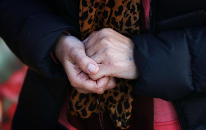 Haifa, 36 ans, yézidie, a été enlevée en 2014 par le groupe Etat islamique avec sa petite sœur pourservir d'esclave sexuelle. Elle témoignait à l'AFP ennovembre 2016 dans le Nord de l'Irak.