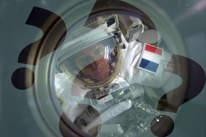 L'astronaute français Thomas Pesquet à bord de la station spatiale internationale, le 13 janvier 2017.