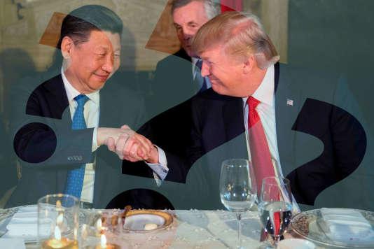 La rencontre entre les présidents chinois et américain, Xi Jinping et Donald Trump, le 6 avril 2017 à Mar-a-Lago (Etats-Unis).