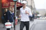 PARIS, FRANCE - SEPTEMBER 28: Karlie Kloss seen jogging in the streets of Paris during the Paris Fashion Week on September 27, 2017 in Paris, France. (Photo by Timur Emek/GC Images )