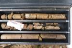 Carottes de roches extraites dans les premiers mètres de la structure d'impact de Rochechouart.