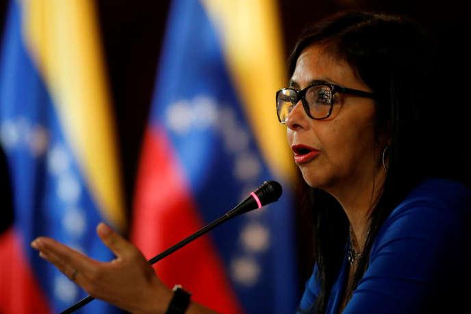 La présidente de l'Assemblée nationale constituante vénézuélienne, Delcy Rodriguez, le 28 août à Caracas.