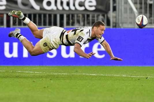 Le demi de mélée néo-zélandais Tawera Kerr-Barlow lors du match contre Bordeaux-Bègles.