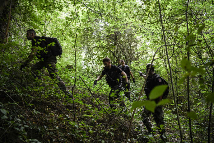 Opération de recherche menée par la gendarmerie après la disparition deMaelys, près de Pont-de-Beauvoisin (Isère), le 30 août.