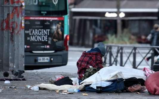 Un sans-abri, à Paris le 24 décembre.