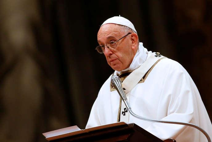 Le pape François, dimanche 24 décembre, au Vatican.
