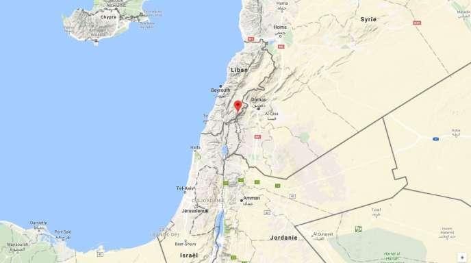 Carte de situation de l'offensive de l'armée syrienne aux abords des frontières israélienne et libanaise, le 24 décembre.