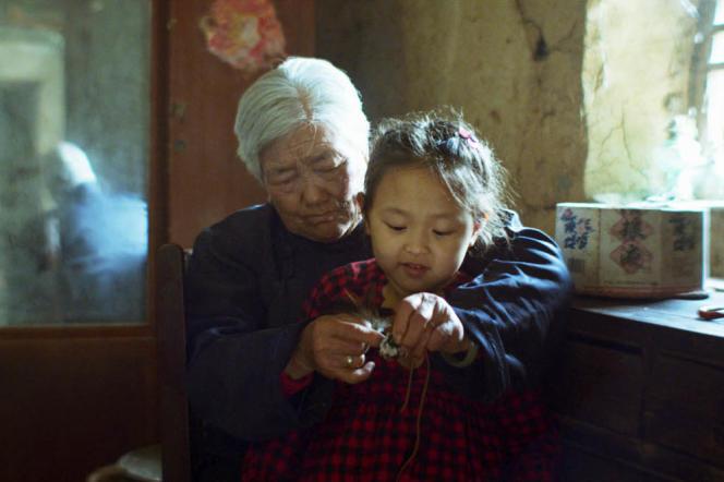 Yu Fengyuan dans le film chinois et français deZhang Tao,«Le Rire de Madame Lin» («Last Laugh»).