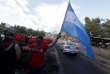 Lors d'un rassemblement pour dénoncer le soutien des Etats-Unis au président réelu du HondurasJuan Orlando Hernandez, à Tegucigalpa, le 27 décembre.