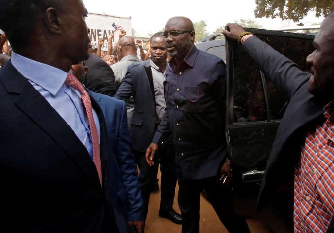George Weah à Monrovia le 27 décembre.