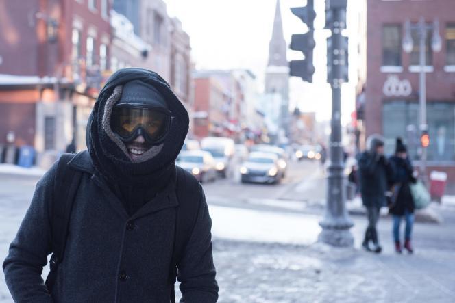 Dans les rues de Québec, frappé par un froid arctique, mercredi 27 décembre.