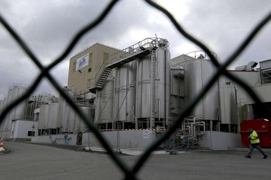 L'usine Lactalis de Craon, en Mayenne, impliquée dans la contamination de lait infantile à la salmonelle, le 11 décembre.