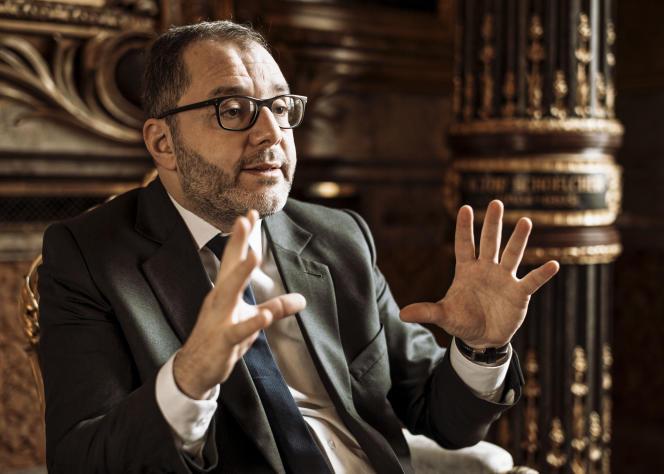 Rachid Temal, sénateur socialiste du Val-d'Oise et actuel «coordinateur» du PS, le 19décembre, au Sénat.