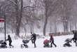 Le 12 décembre, à Montréal, au Canada. «Nous sommes en deçà de 10 à 20°C des normales de saison», selon l'agence fédérale Environnement Canada.