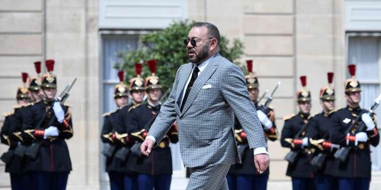Le roi du Maroc, Mohammed VI, à l'Elysée, à Paris, le 2mai 2017.