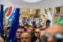 Lors d'un meeting de la Ligue du Nord contre le projet de loi sur le droit du sol, le 10 décembre, à Rome.