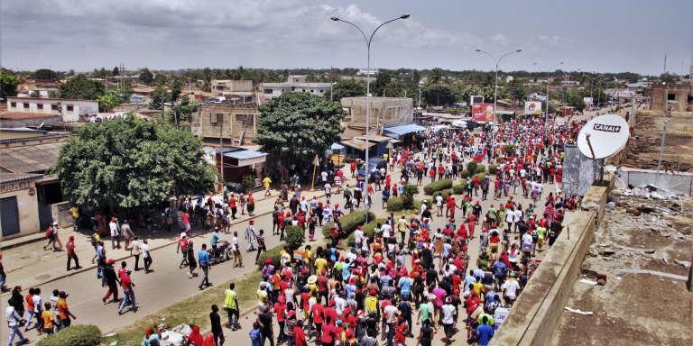 Marche contre le président togolais, Faure Gnassingbé, à Lomé, le 5octobre 2017.
