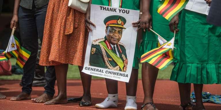 Lors de l'investiture d'Emmerson Mnangagwa comme président du Zimbabwe, le 24novembre 2017, à Harare.