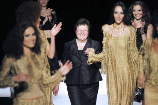 Carmen Colle, fondatrice et directrice de World Tricot, le 29 mai 2009, lors de la présentation de la collection de sa marque «Angèle Baptist».