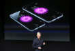 Tim Cook, le PDG d'Apple, en octobre 2014 à Cupertino, en Californie.