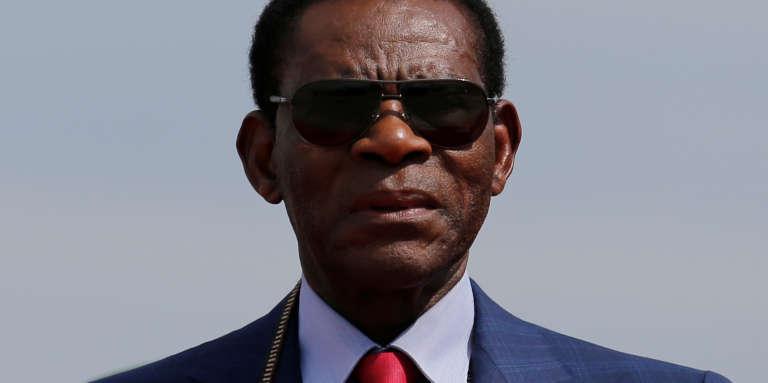 Le président équato-guinéen, Teodoro Obiang Nguema Mbasogo, à Santa Cruz, en Bolivie, le 22novembre 2017.