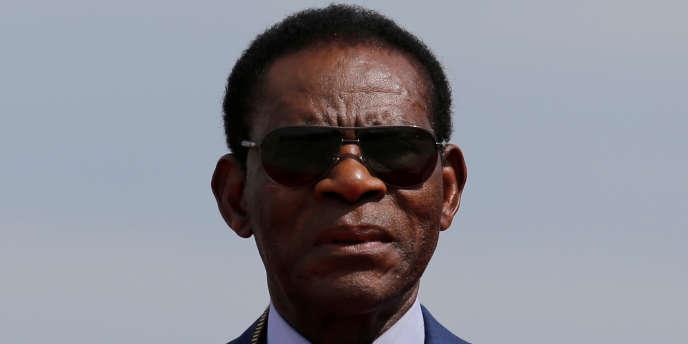 Le président équato-guinéen Teodoro Obiang Nguema, le 22 novembre 2017 enBolivie.