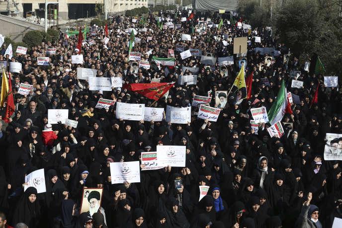 Manifestation prorégime, le 30 décembre 2017.