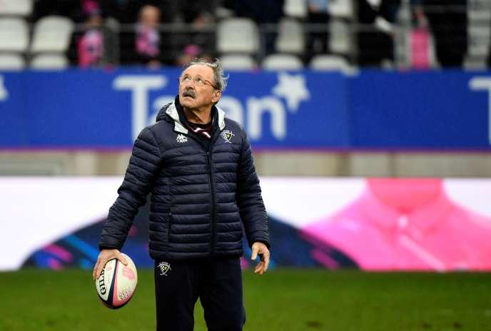 Jacques Brunel, le 30 décembre 2017 à Paris, lors de son dernier match comme manageur de l'Union Bordeaux-Bègles.