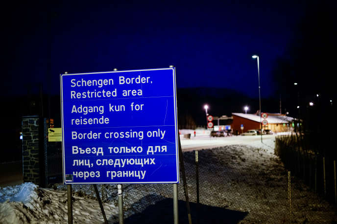 A Storskog (Norvège), à la frontière avec la Russie, en 2015.