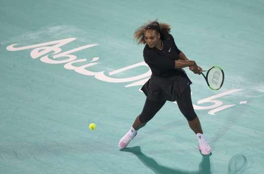 Serena Williams lors du tournoi-exhibition d'Abu Dhabi, en décembre.
