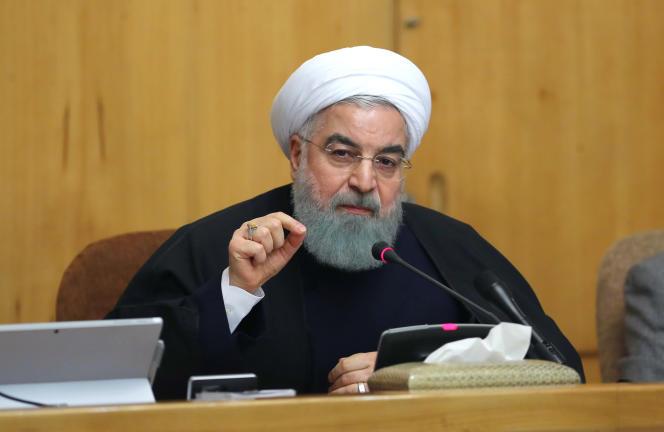 Le président Hassan Rohani, dimanche 31 décembre 2017, lors de sa première intervention après quatre jours de protestations en Iran.