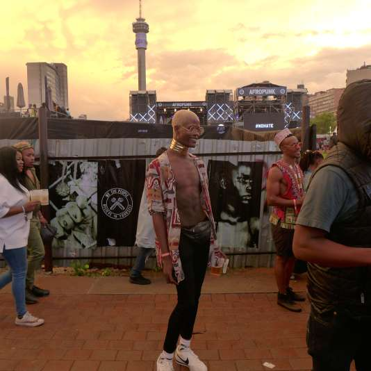 Festivalier afro-punk, le 30 décembre 2017, à Johannesburg.