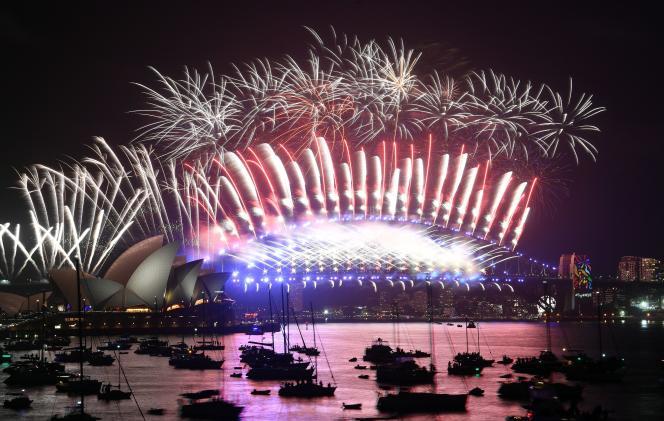 Le feu d'artifice de la baie de Sydney se tient chaque année pour la Saint-Sylvestre.