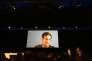 Edward Snowden lors de son intervention lors du 34e Chaos Communication Congress, à Leipzig, le jeudi 28 décembre.