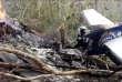 L'avion qui s'est écrasé dans une région montagneuse près de Punta Islita, une cité balnéaire du Costa Rica, dimanche.