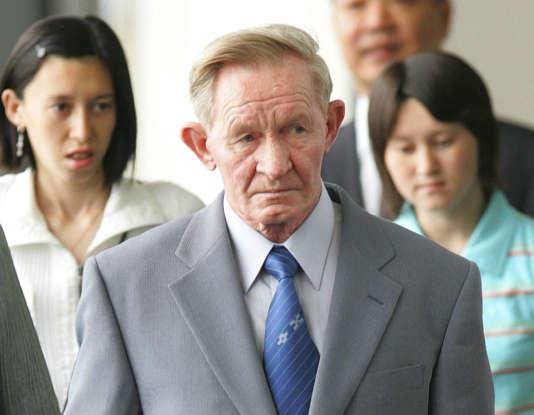 Charles Jenkins, le 14 juin 2005. L'ancien soldat américain avait déserté en Corée du Nord en 1965. Il est mort au Japon le 11 décembre 2017.