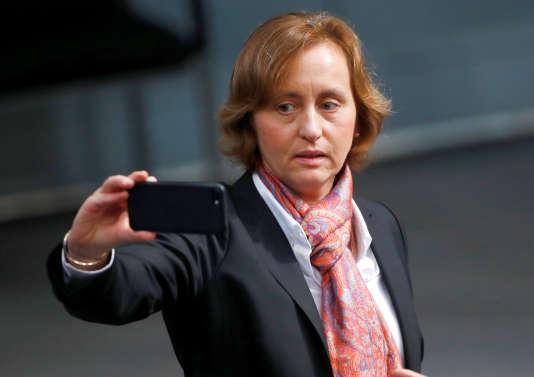 Beatrix von Storch,responsable du parti d'extrême droite Alternative pour l'Allemagne, le 24 octobre au Bundestag, à Berlin.