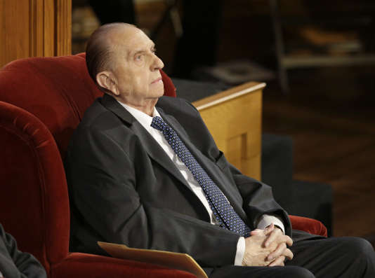 Thomas Monson, à Salt Lake City, le 10 juillet 2015.