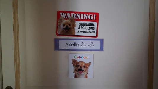La porte de la chambre d'Axelle, fille d'Hervé Millot-Gustave.