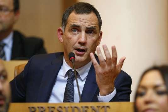 Gilles Simeoni à l'Assemblée de Corse le 2janvier.