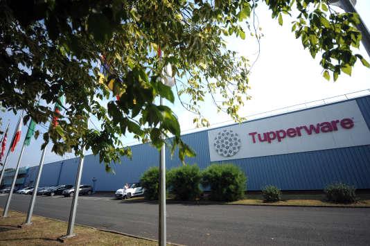 L'uniquesite de production enFrance de Tupperware, à Joué-lès-Tours, en Indre-et-Loire, en août 2013.